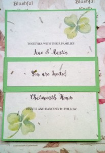 Clover Grass Paper Invitation