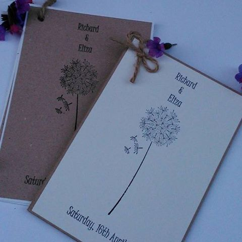 Dandilion invitation set fronts