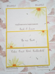 Sunflower Grass Paper Invitation