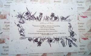 Thistle plantable invitation#