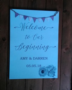Welcoming to our beginning sign A3