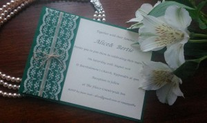 green lace and twine 1
