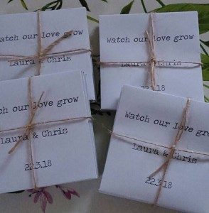 plain wedding seed favours