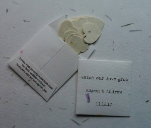 wildflower seed favours
