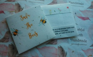 Save The Bees Yellow Font