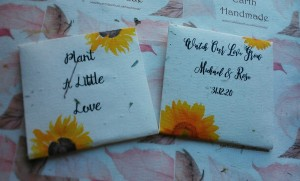 Two Sunflower Favours