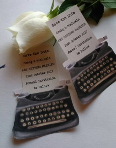 Vintage typewriter save the dates